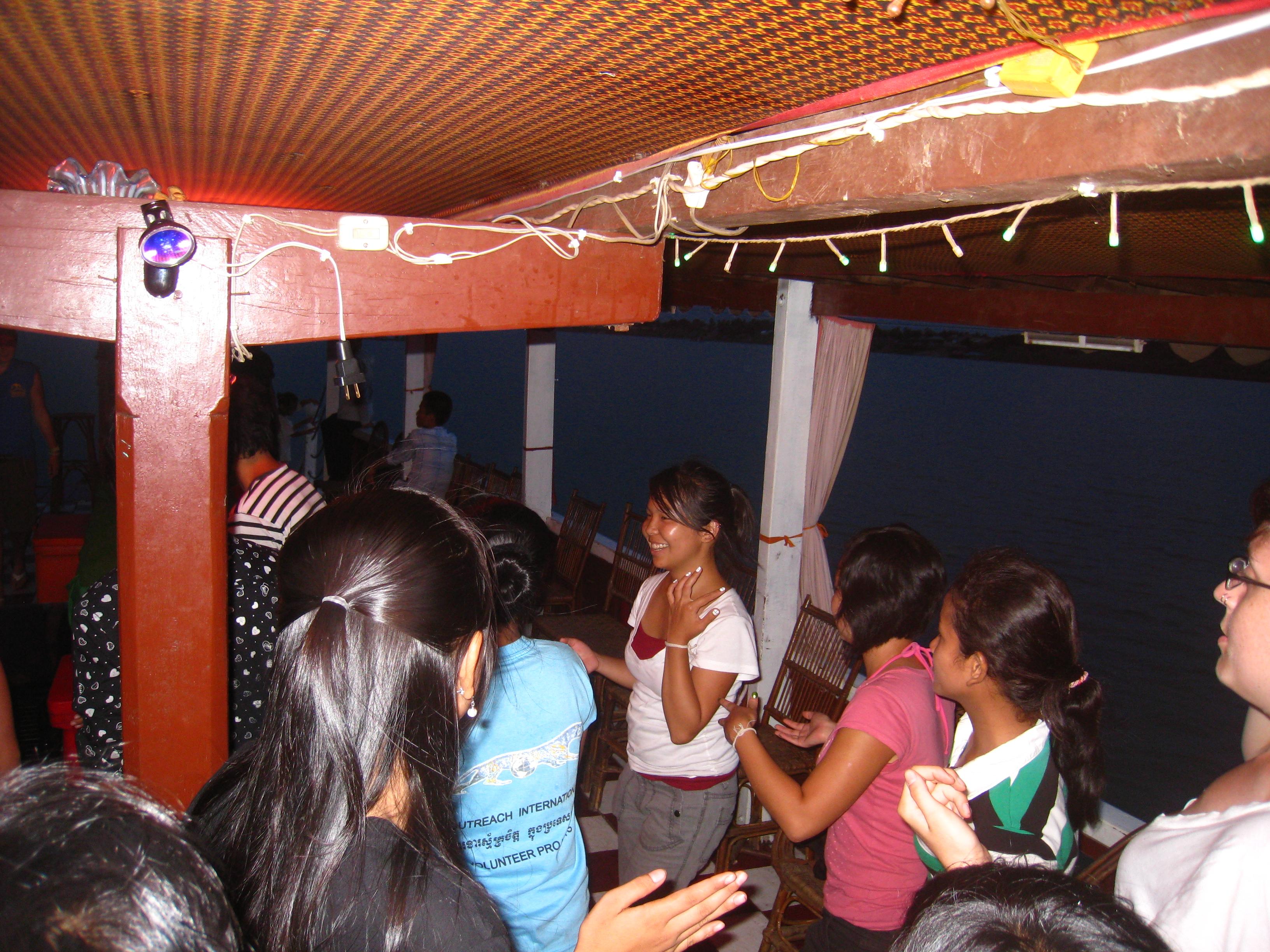 Learning Khmer dancing