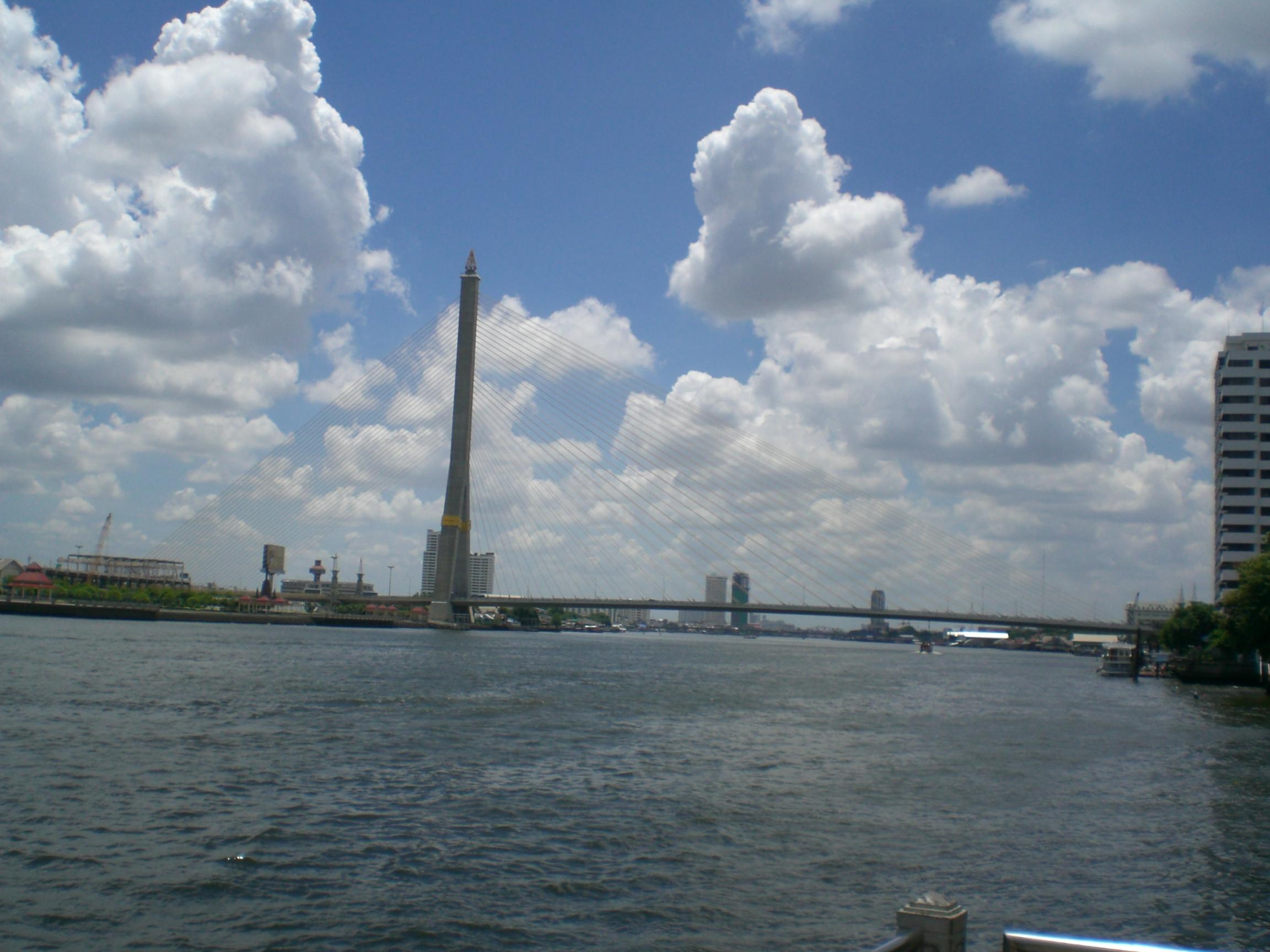 The biggest bridge in Bangkok
