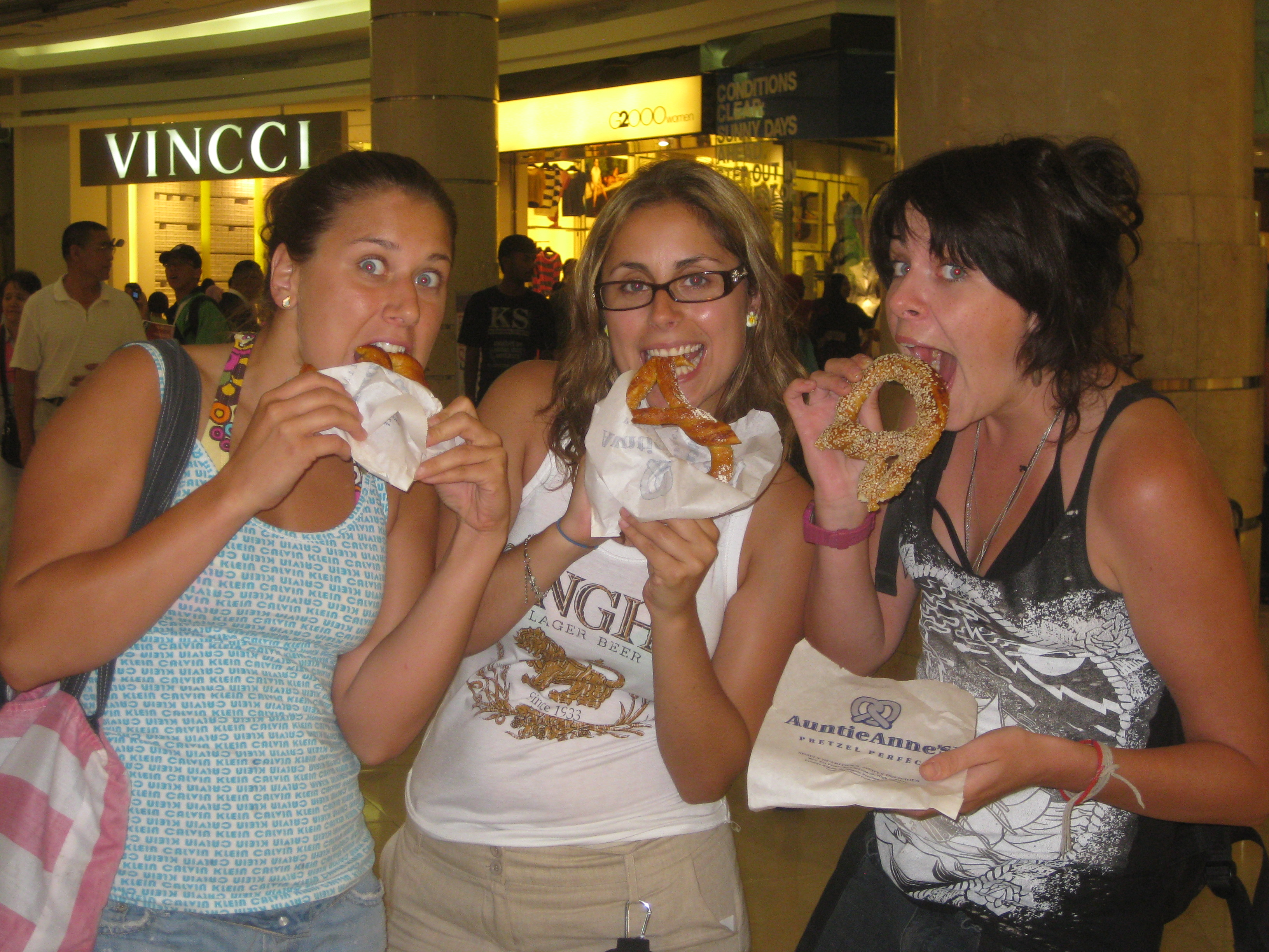 The girls and their pretzels