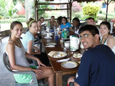 Breakfast at Wli Waterfall Lodge