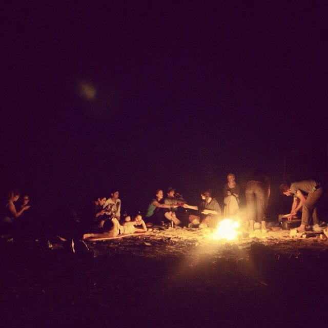 Bonfire in the Negev
