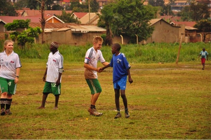 Playing Football in Uganda