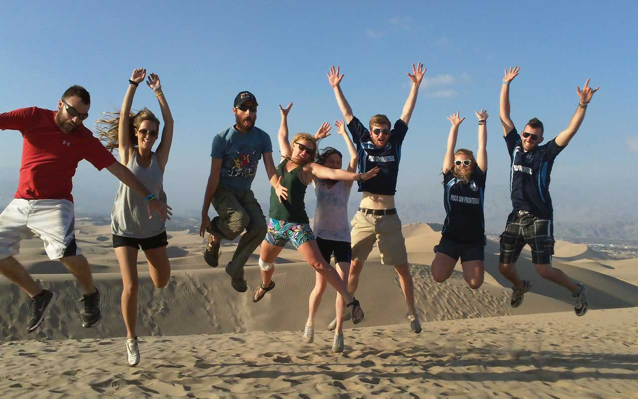 Our team jumps for joy!