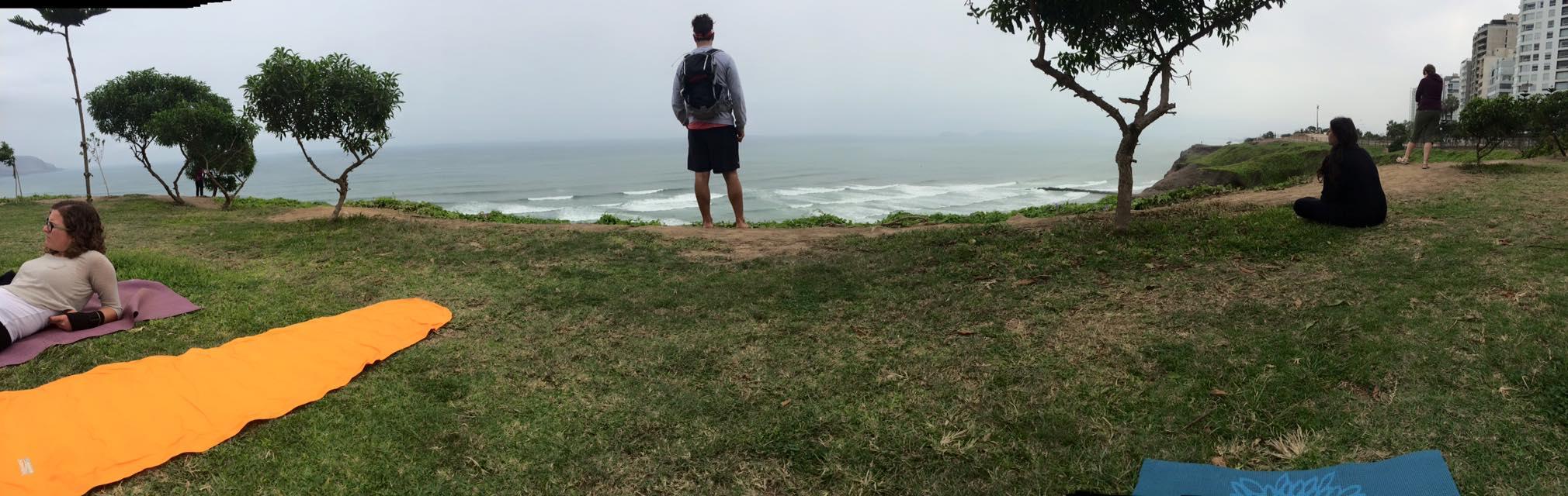 The shore.