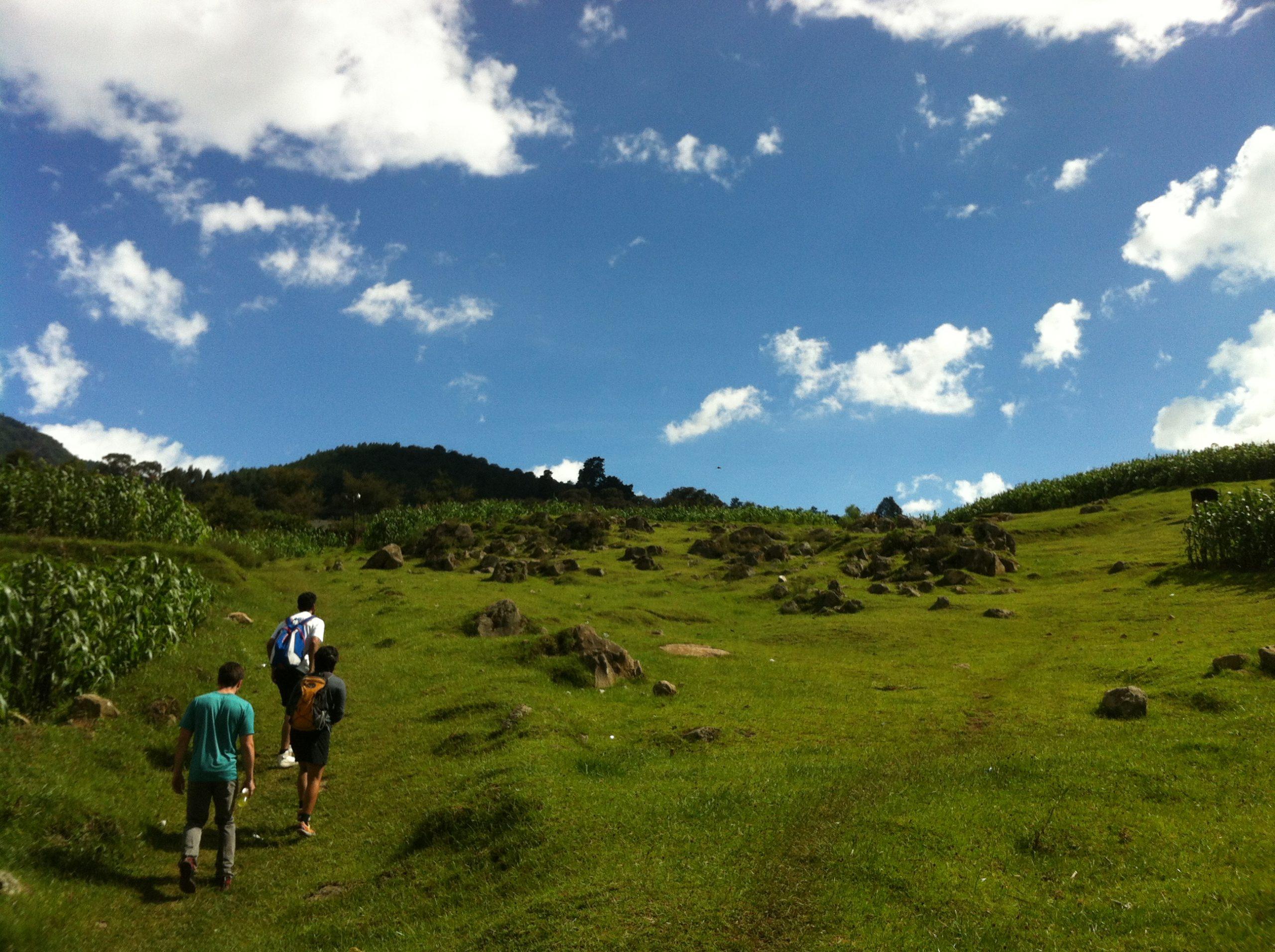 Guatemala Extreme team members on a trek.