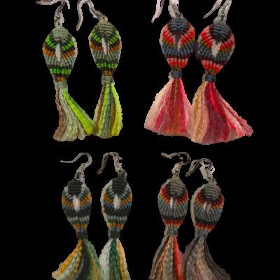 ribbon earings 2