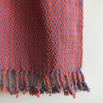 Juana scarf orange-periwinkle