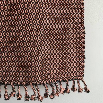 Juana scarf peach detail
