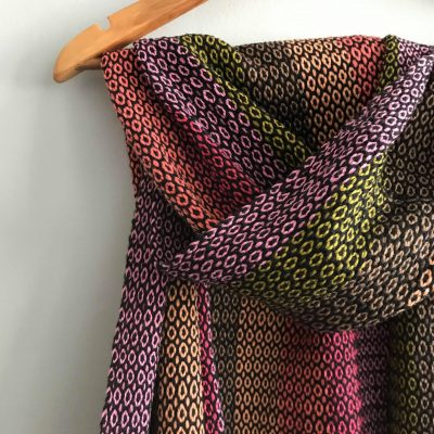 Juana shawl pink-green