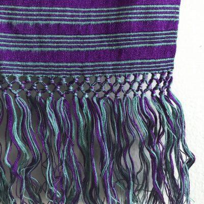 Yabal scarf purple detail